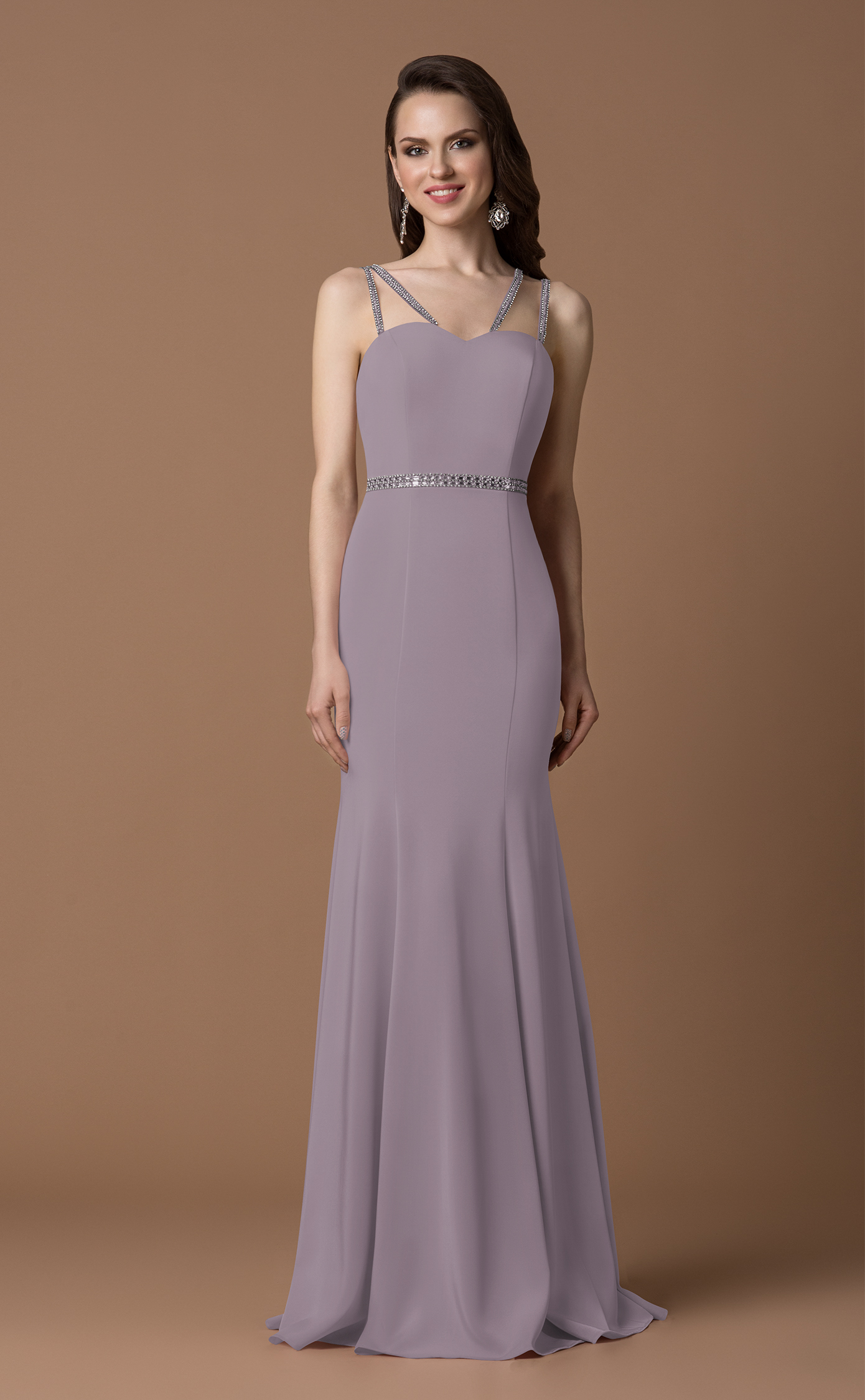 0a57d0b9d2 Gino Cerruti Long Satin Jersey Prom or Bridemaid Dress – 7017S Silver Rose